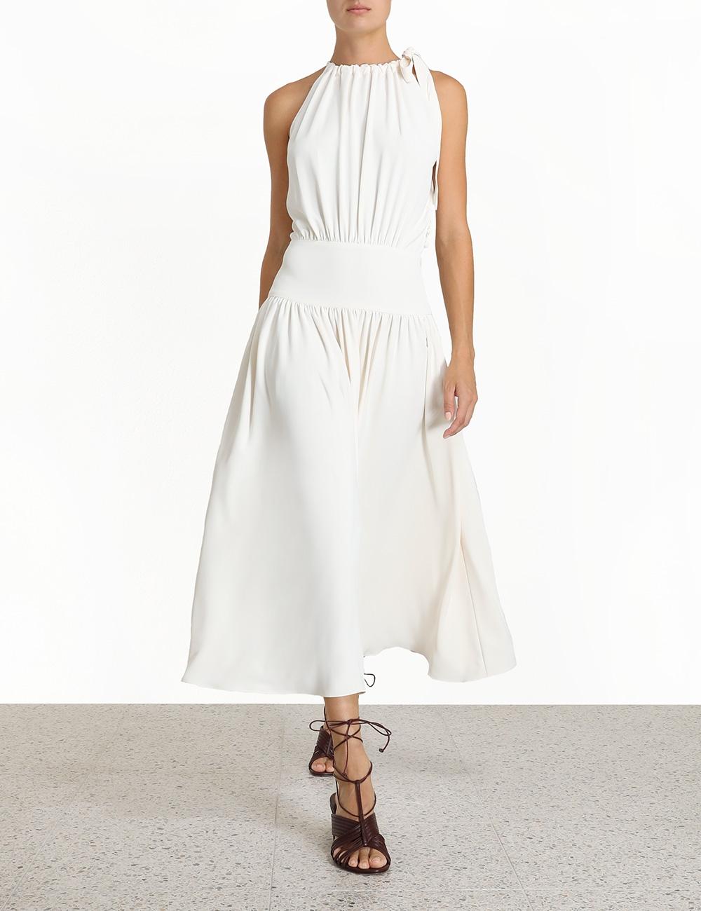 Tie Neck Picnic Dress