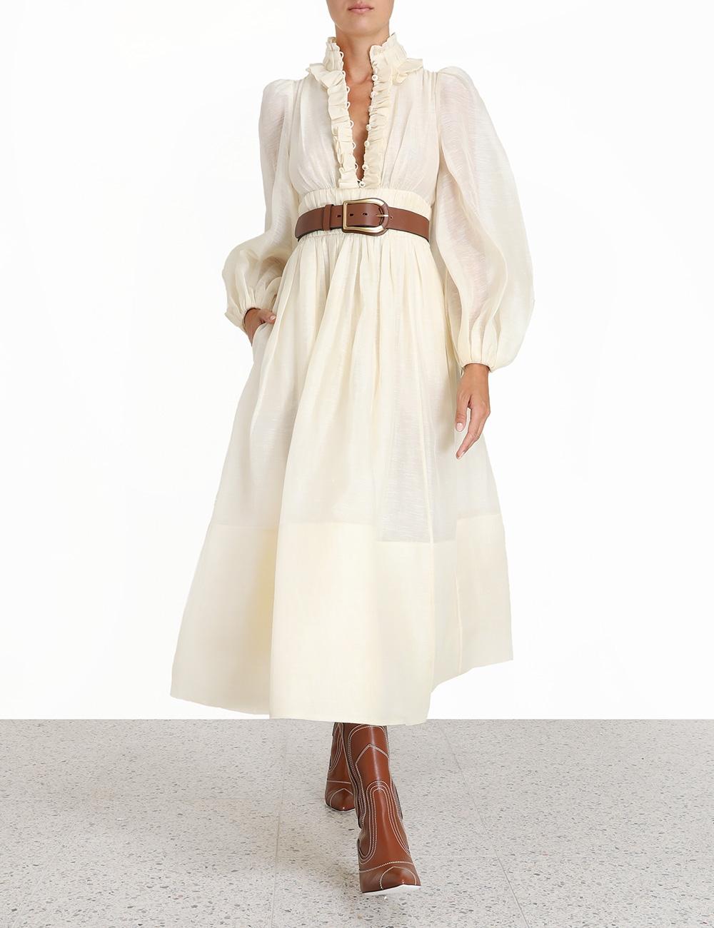 Botanica Long Sleeve Gown