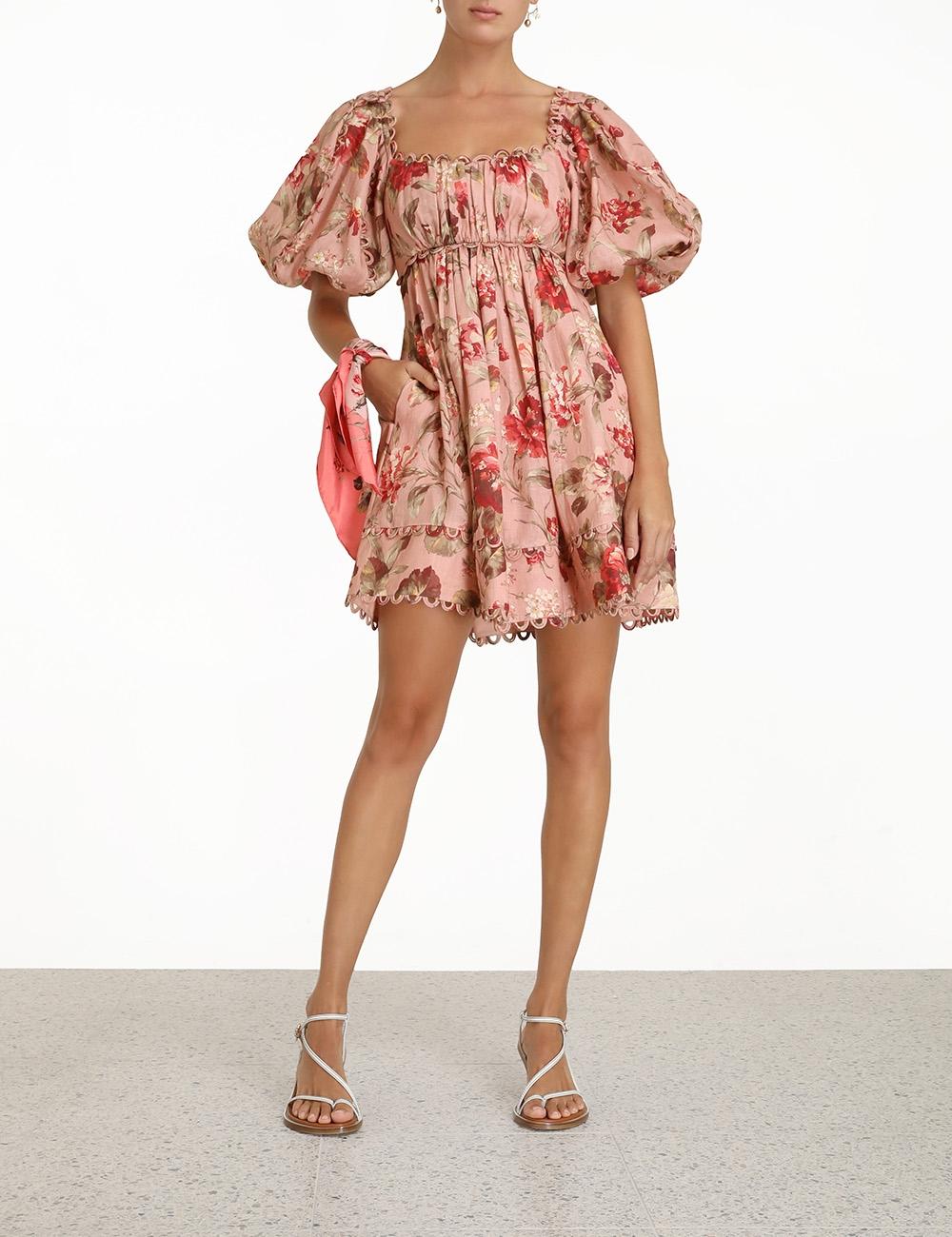 Cassia Scallop Mini Dress