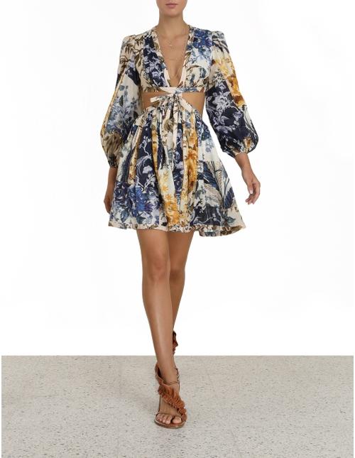 Aliane Cut Out Short Dress