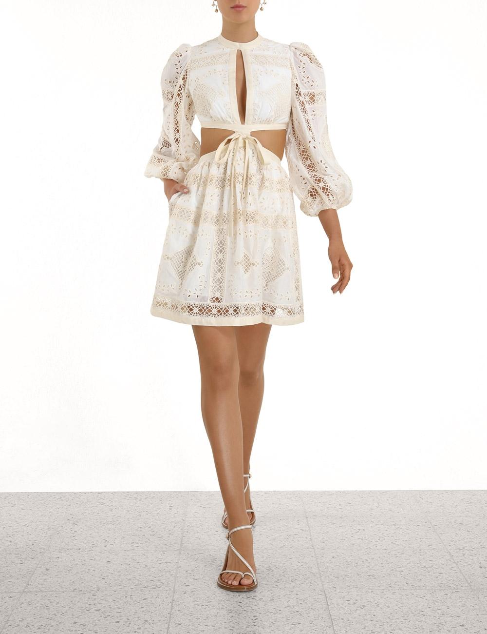 Aliane Embroidered Short Dress