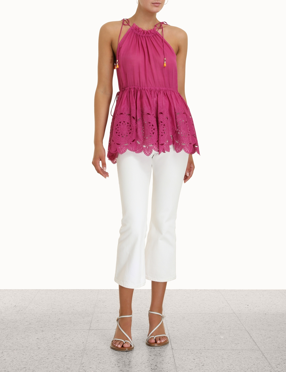 Teddy Scallop Tie Top