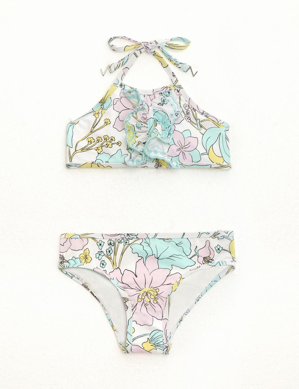 Peggy Ruffle Halter Bikini