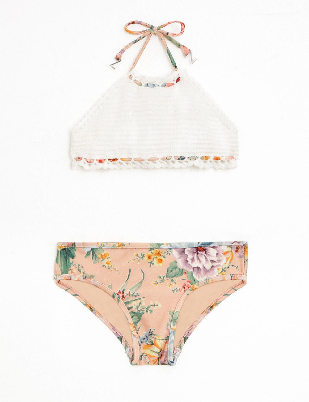 Zinnia Crochet Halter Bikini