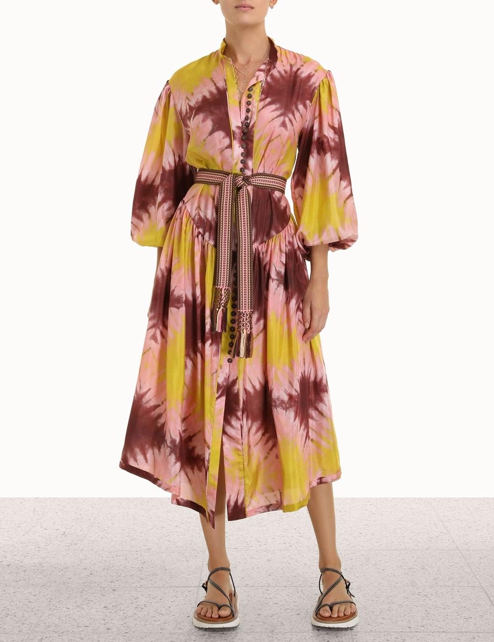 Shelly Button Midi Dress