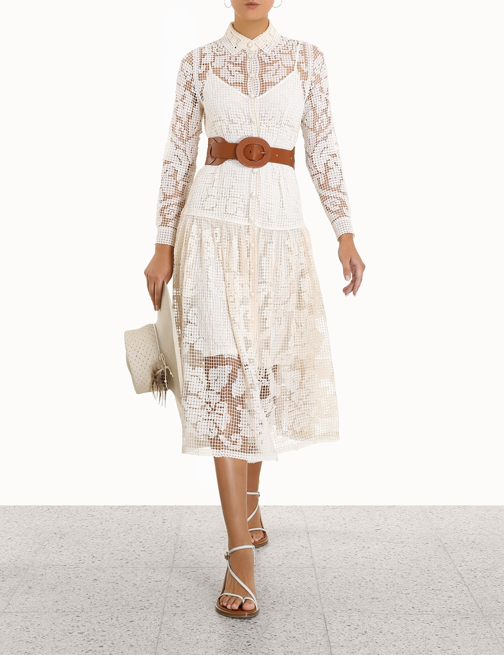 Estelle Crochet Long Dress