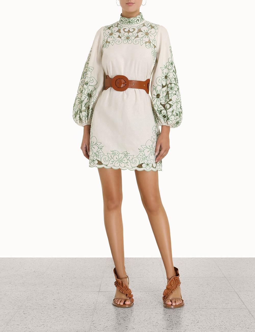 Teddy Floral Short Dress
