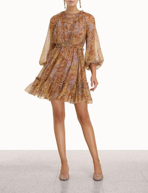 Concert Lace-Up Mini Dress