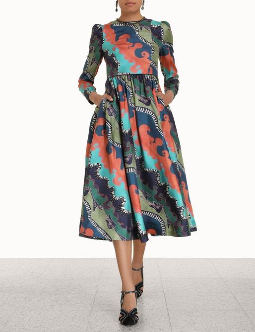 Rhythm Fitted A-Line Dress