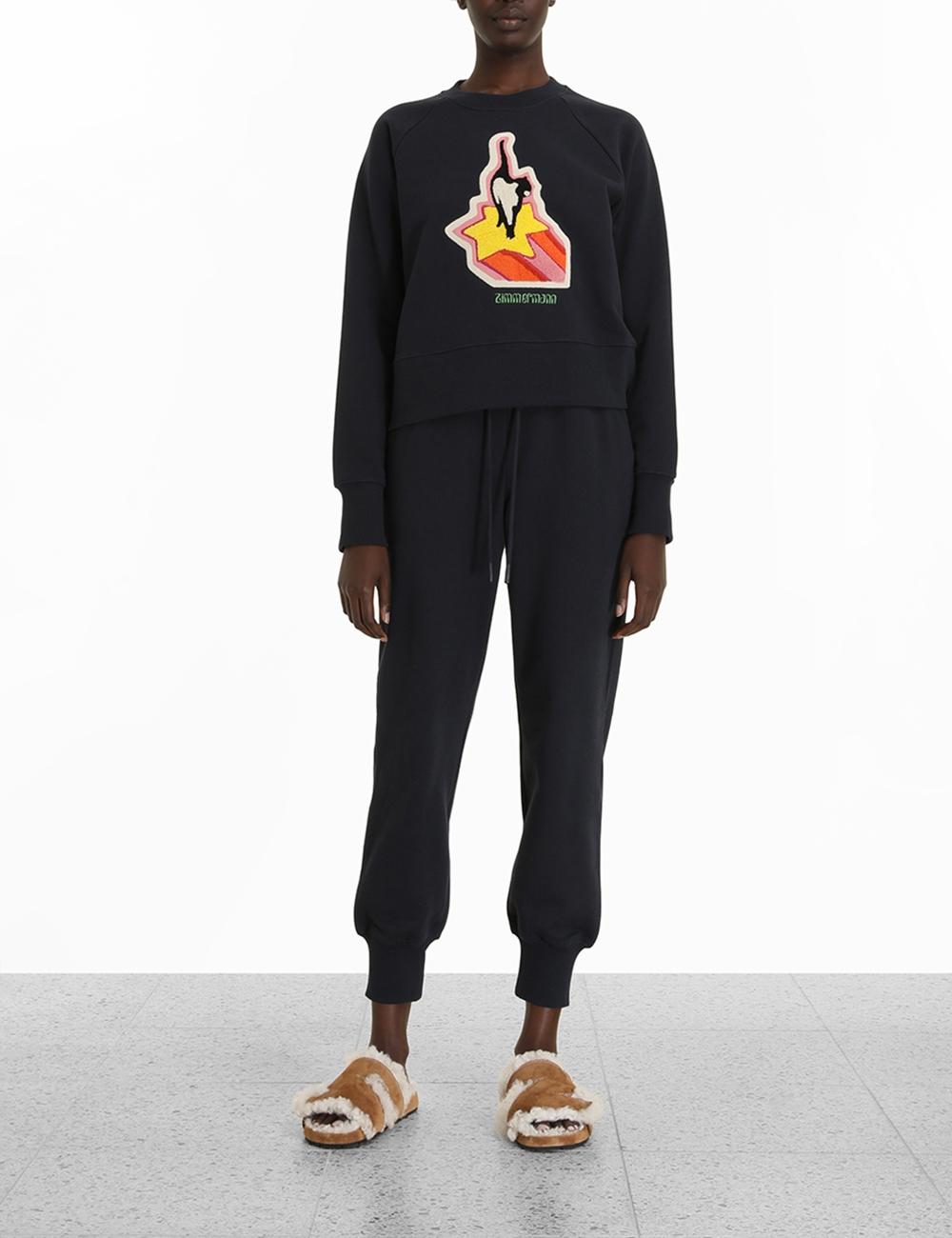 Starcat Embroidered Sweatshirt