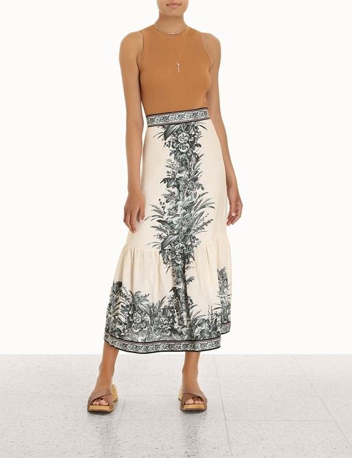 Moonshine Frill Hem Midi Skirt