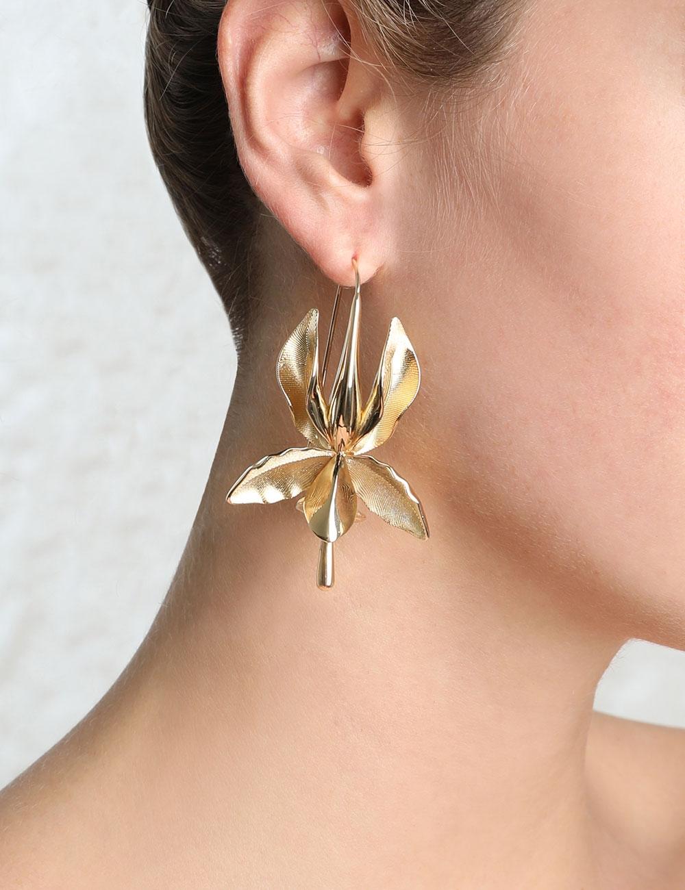 Single Orchid Earring