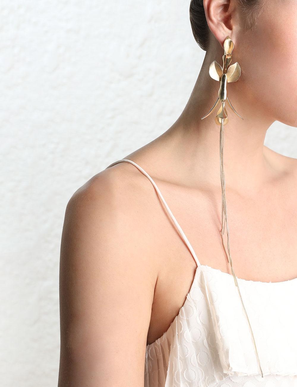 Orchid Drop Earring