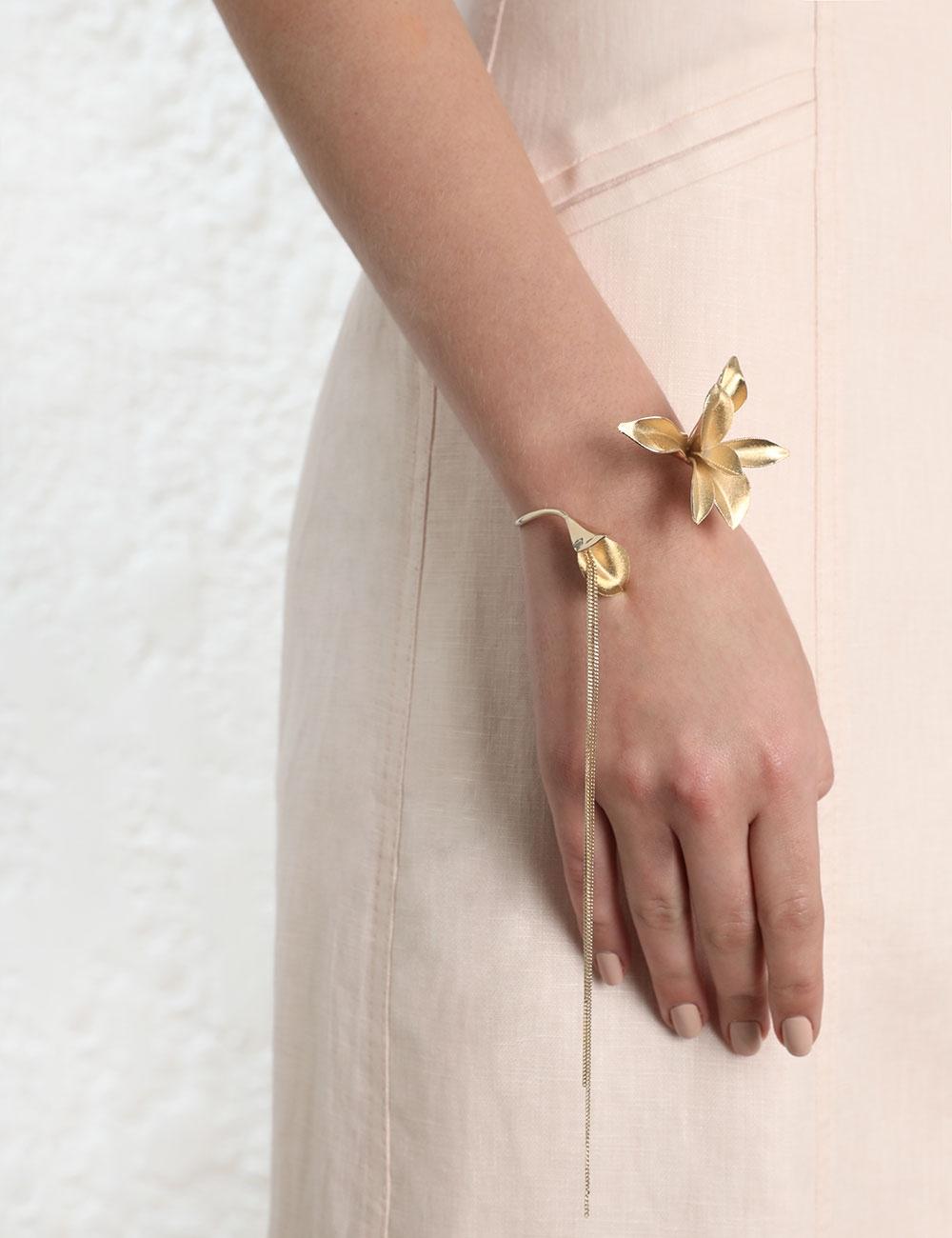 Orchid Cuff Bracelet