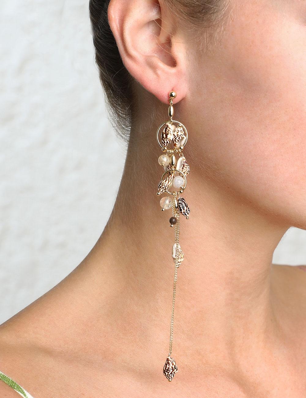 Shell Drop Earring