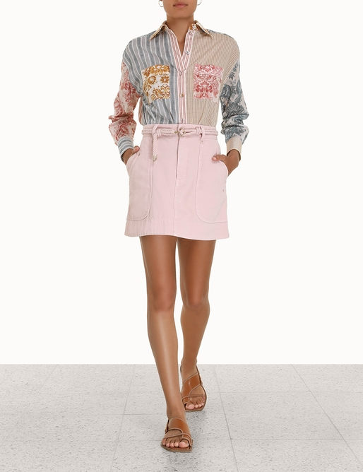 Andie Spliced Relaxed Shirt