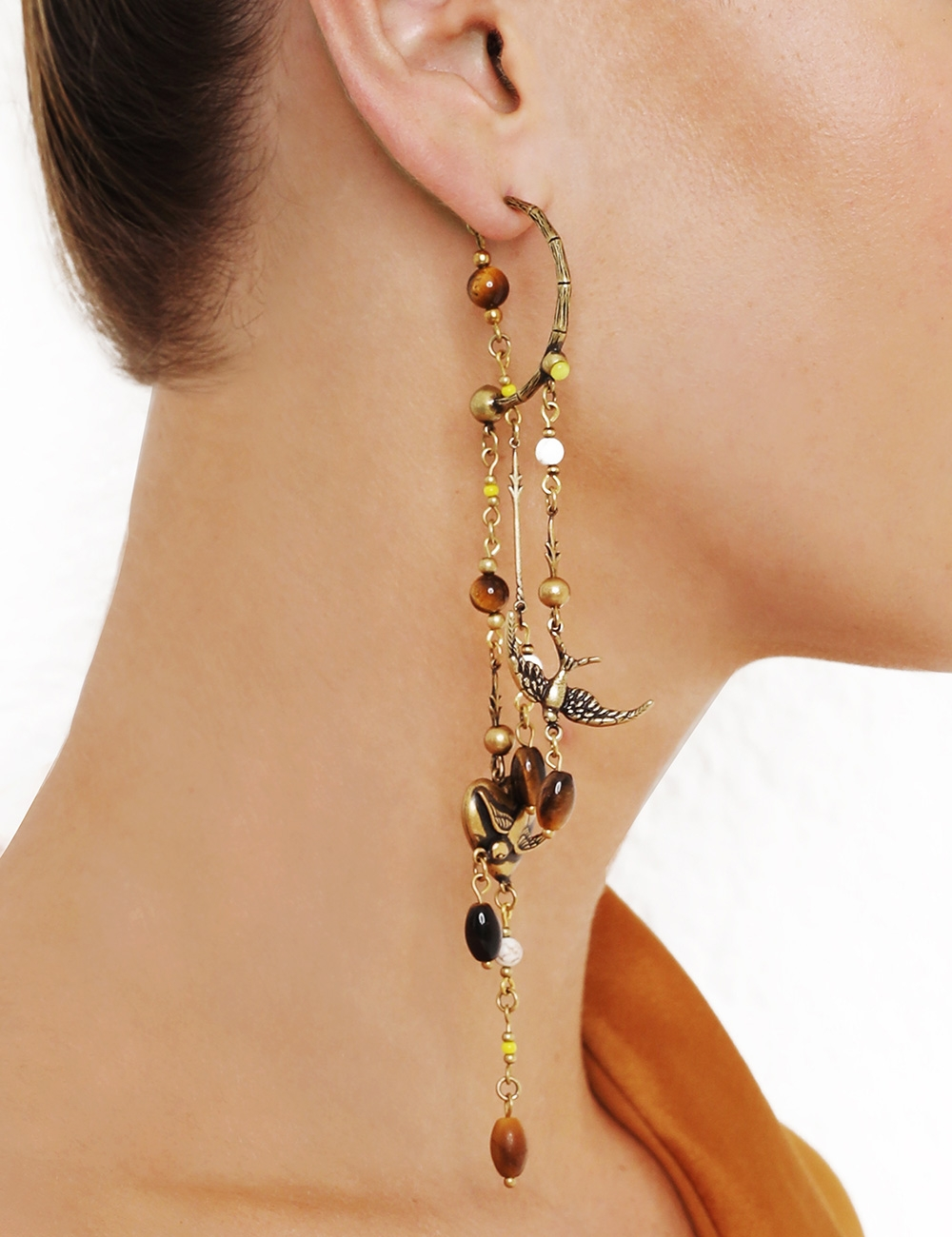 Swallow Drop Hoop Earring