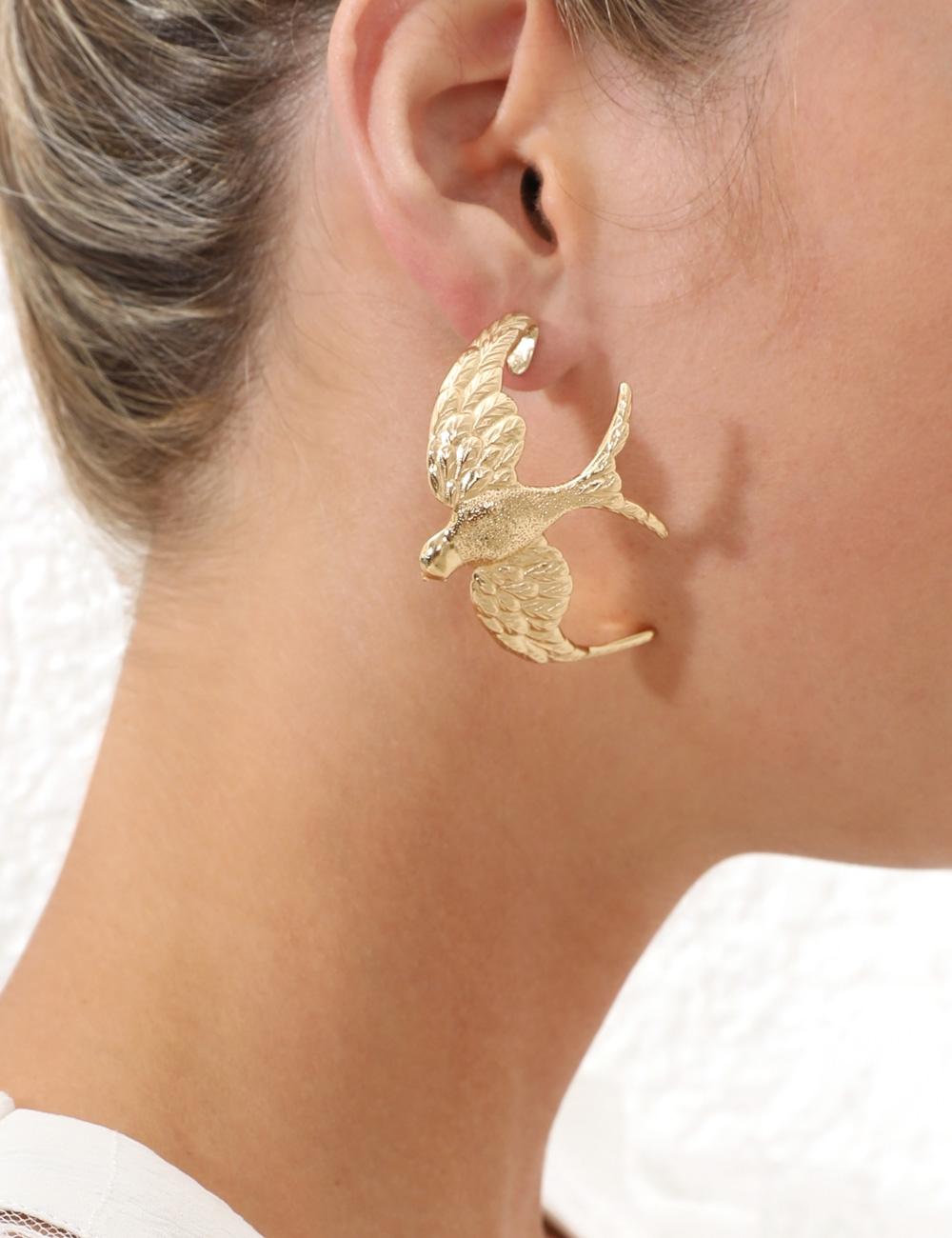 Swallow Hoop Earring