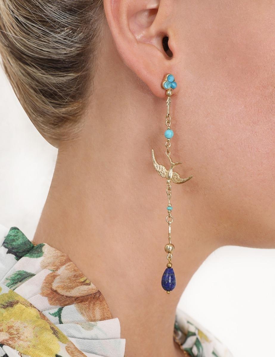 Delicate Swallow Drop Earring