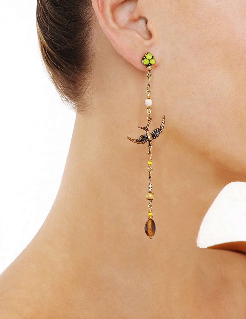 Delicate Swallow Drop Earring