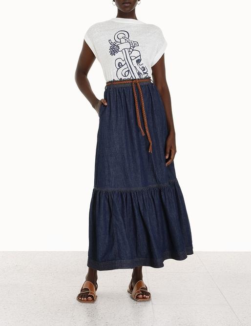 Moonshine Tiered Midi Skirt