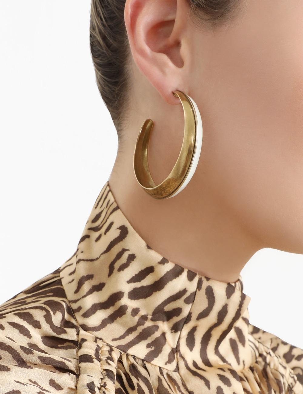 Inset Hoop Earring