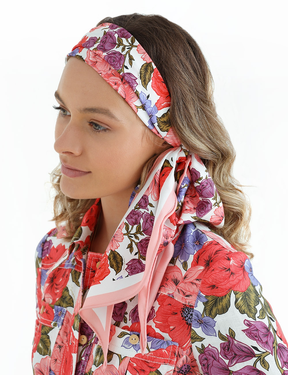 Printed Scarf Long