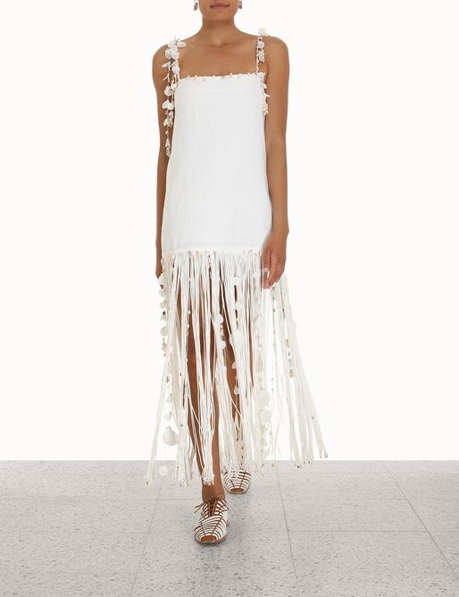 Postcard Shell Fringe Dress