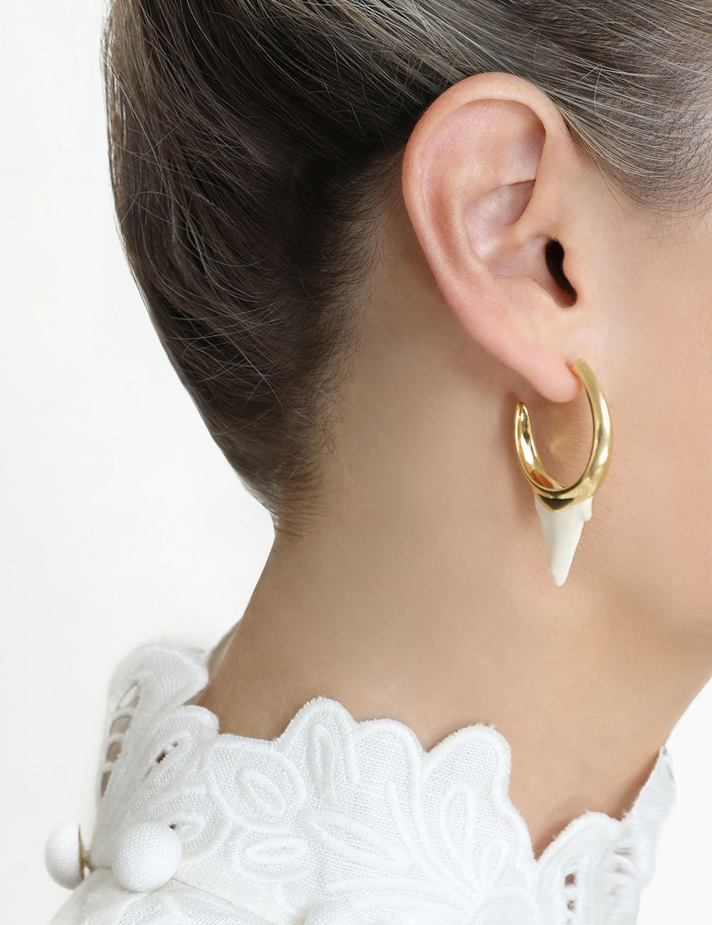 Wavelength Surf Hoop Earring
