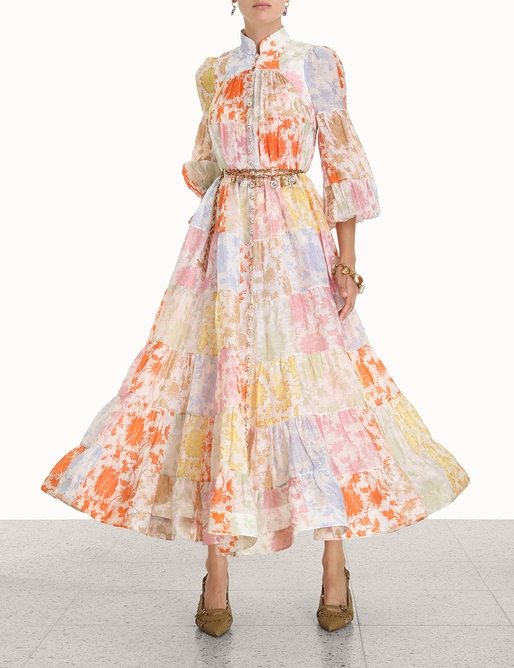 Postcard Lantern Midi Dress