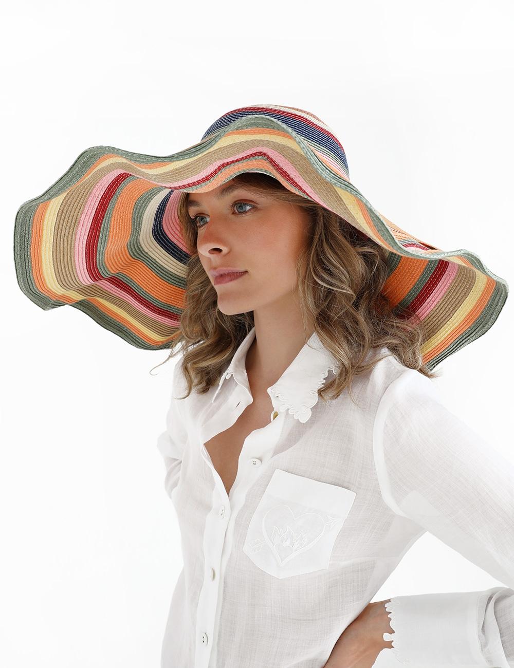 The Lovestruck Stripe Sunhat