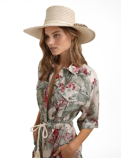 Spotted Vent Crown Sun Hat