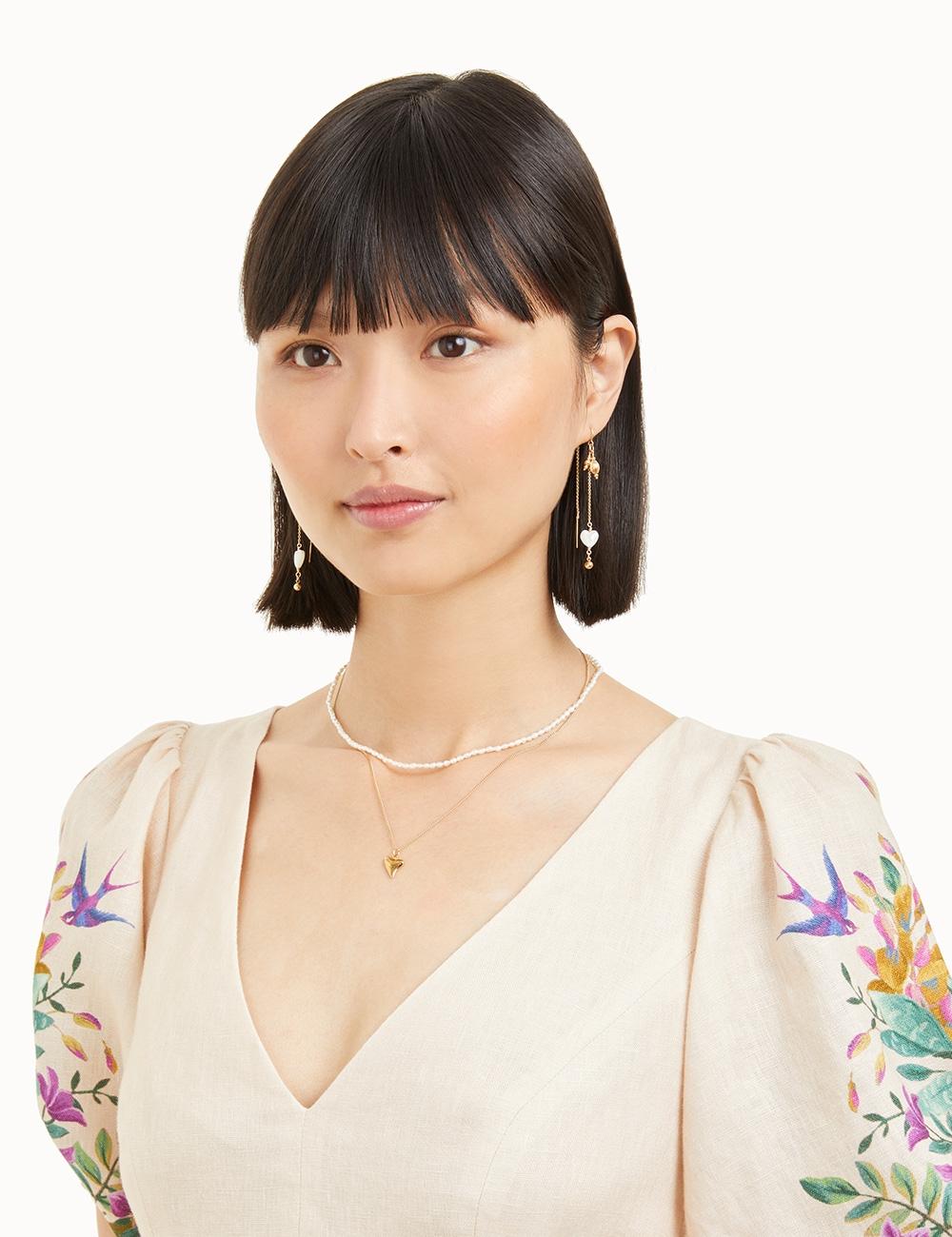 Heart Threadthrough Earrings