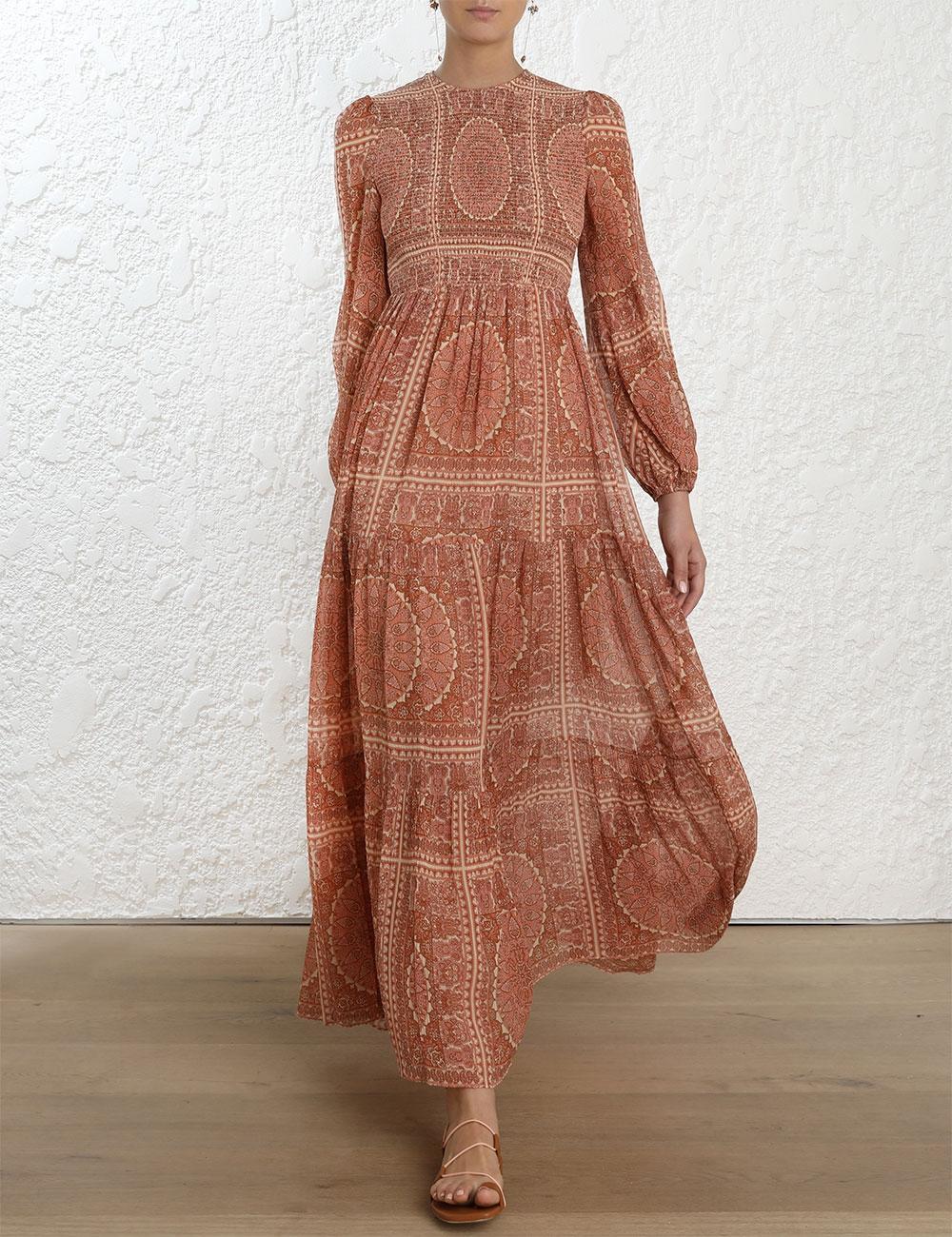 Primrose Paisley Crinkle Dress