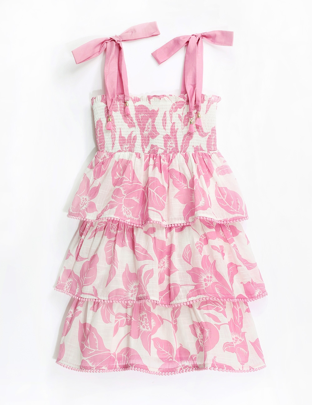 Bells Shirred Tiered Dress
