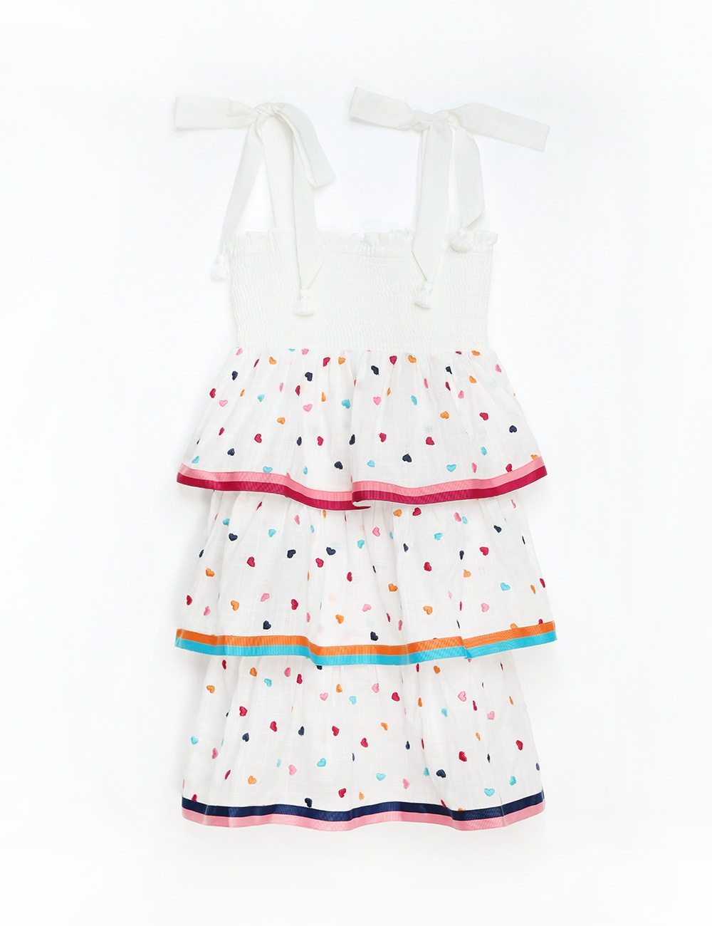 Poppy Shirred Tiered Dress