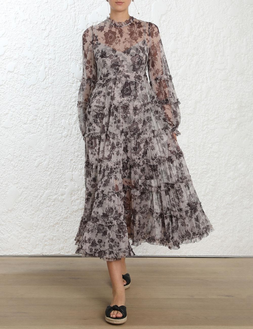 Juno Tiered Long Dress