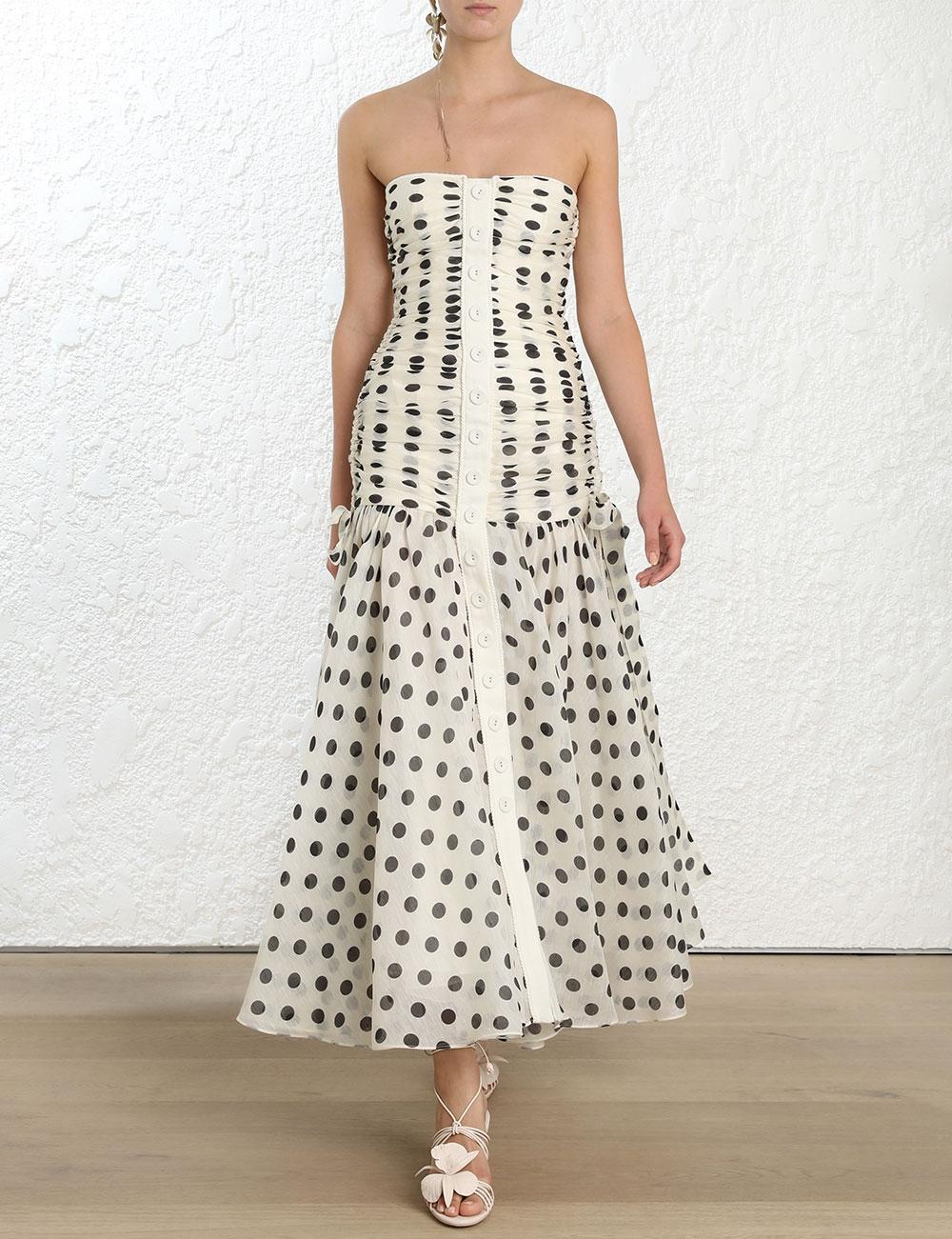 20f4cee04445 Corsage Ruche Dress