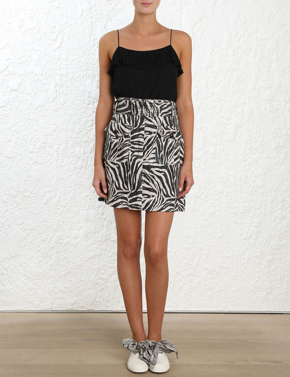 Corsage Safari Mini Skirt