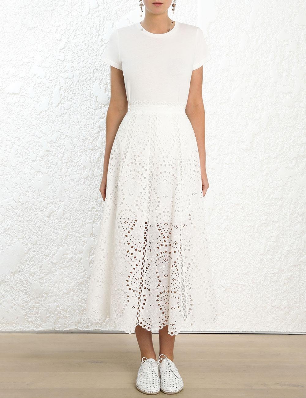 Heathers Scallop Long Skirt