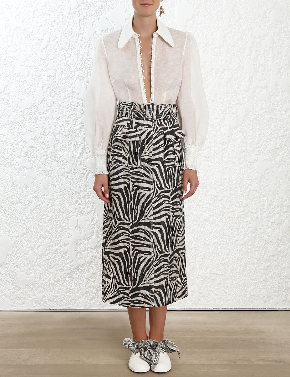 Corsage Safari Skirt