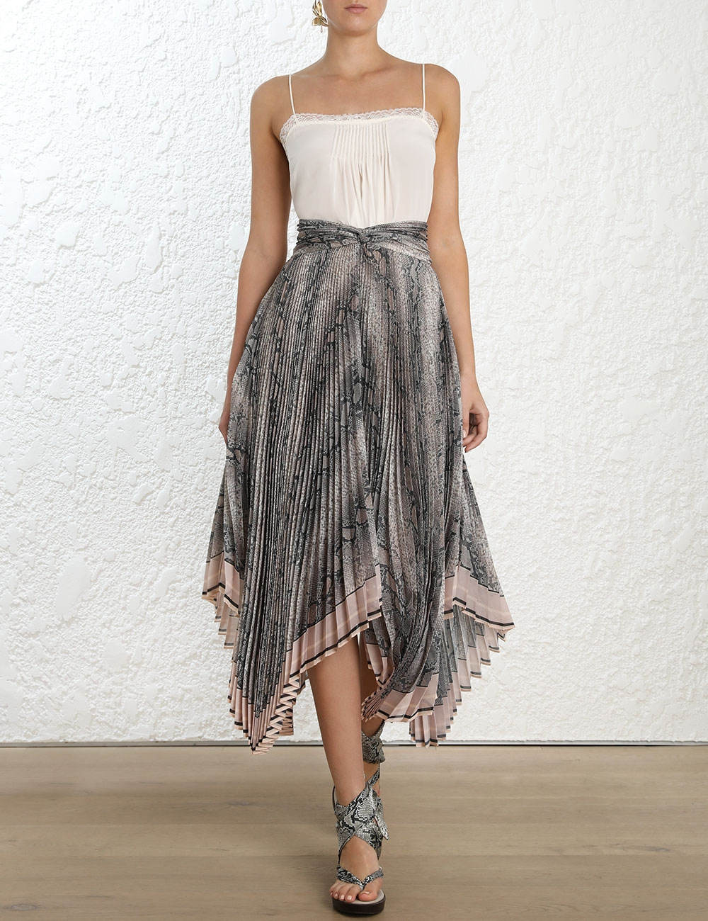 Corsage Pleat Skirt