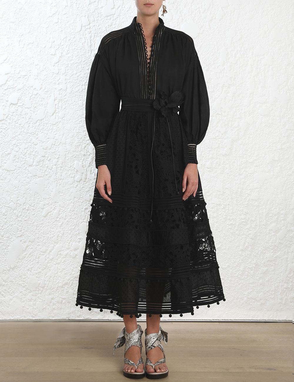 Corsage Embellished Skirt