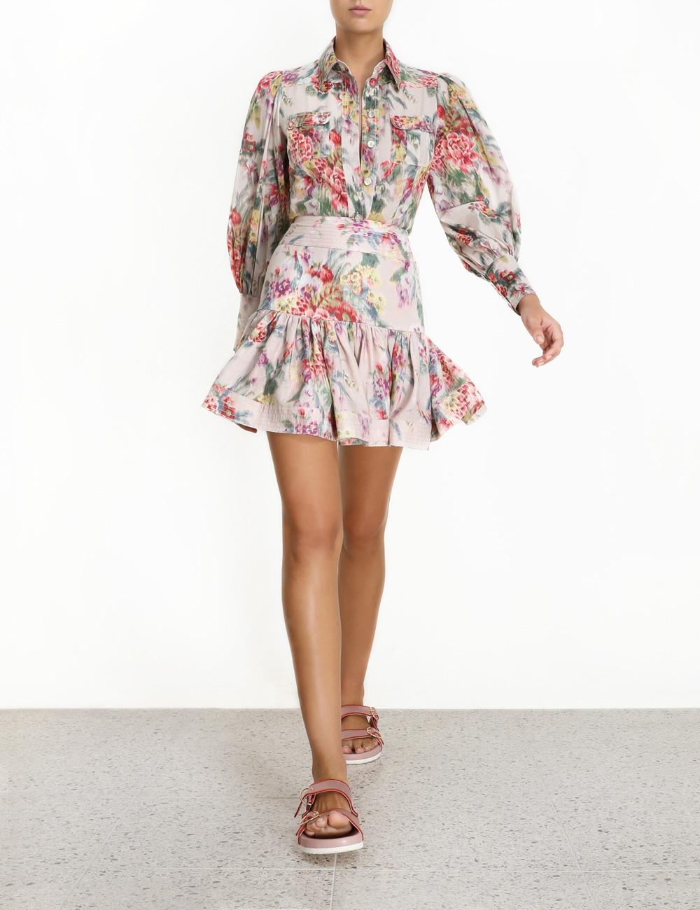 Wavelength Flounce Mini Skirt