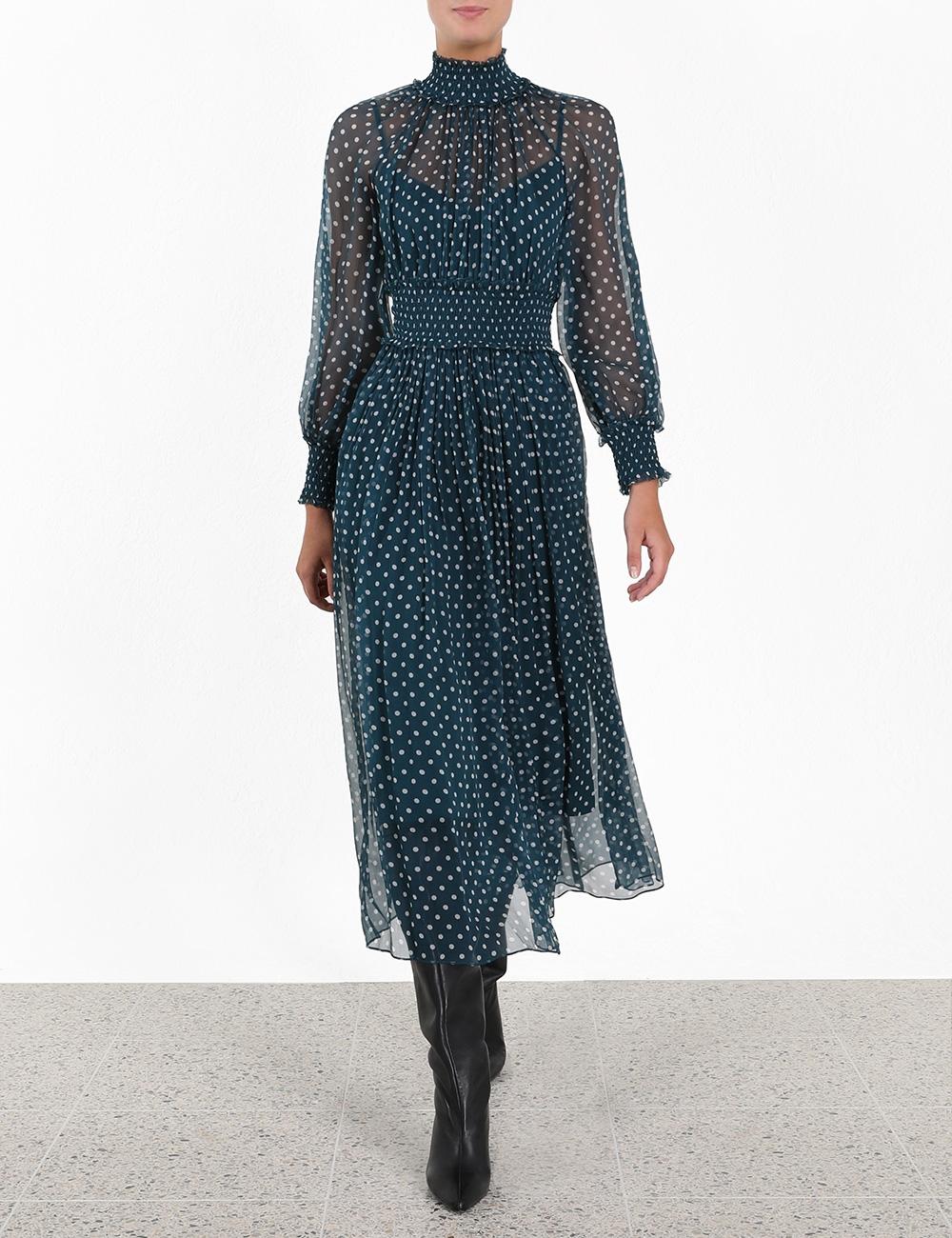 Moncur Shirring Dress