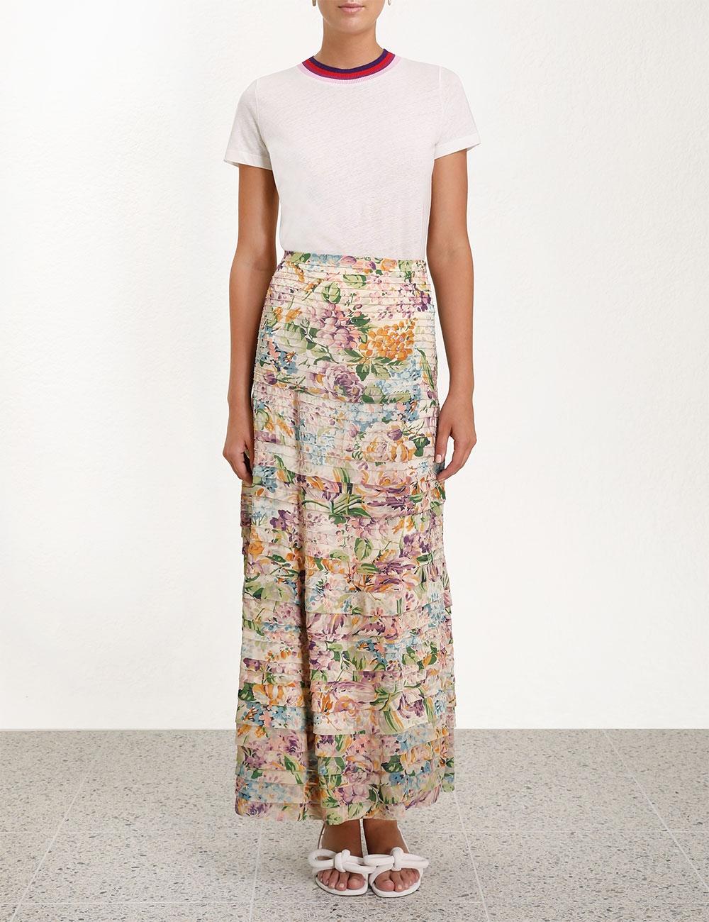 Ninety-Six Pintuck Skirt