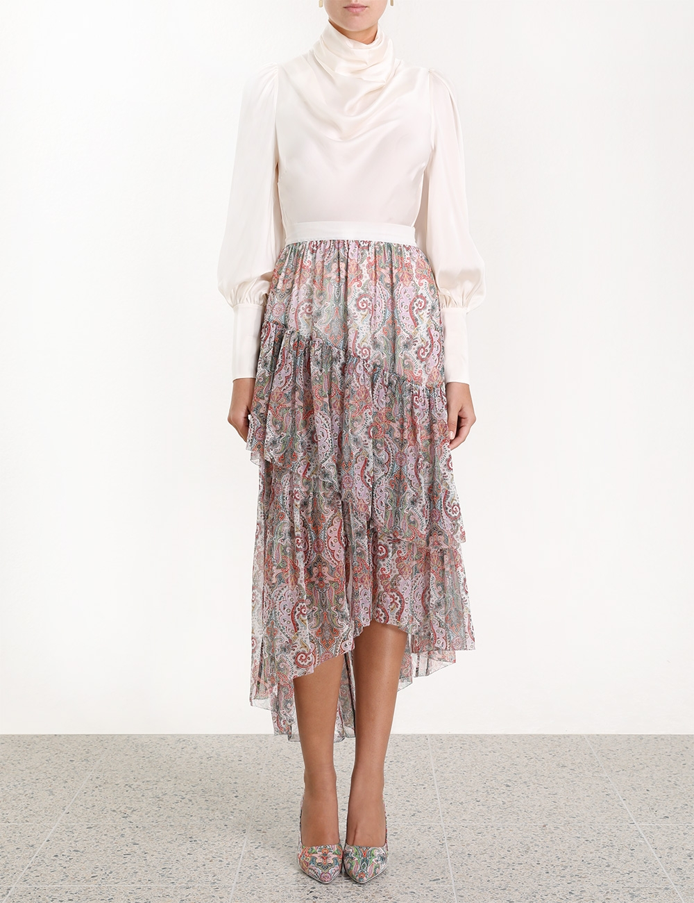 Ninety-Six Asymmetric Skirt