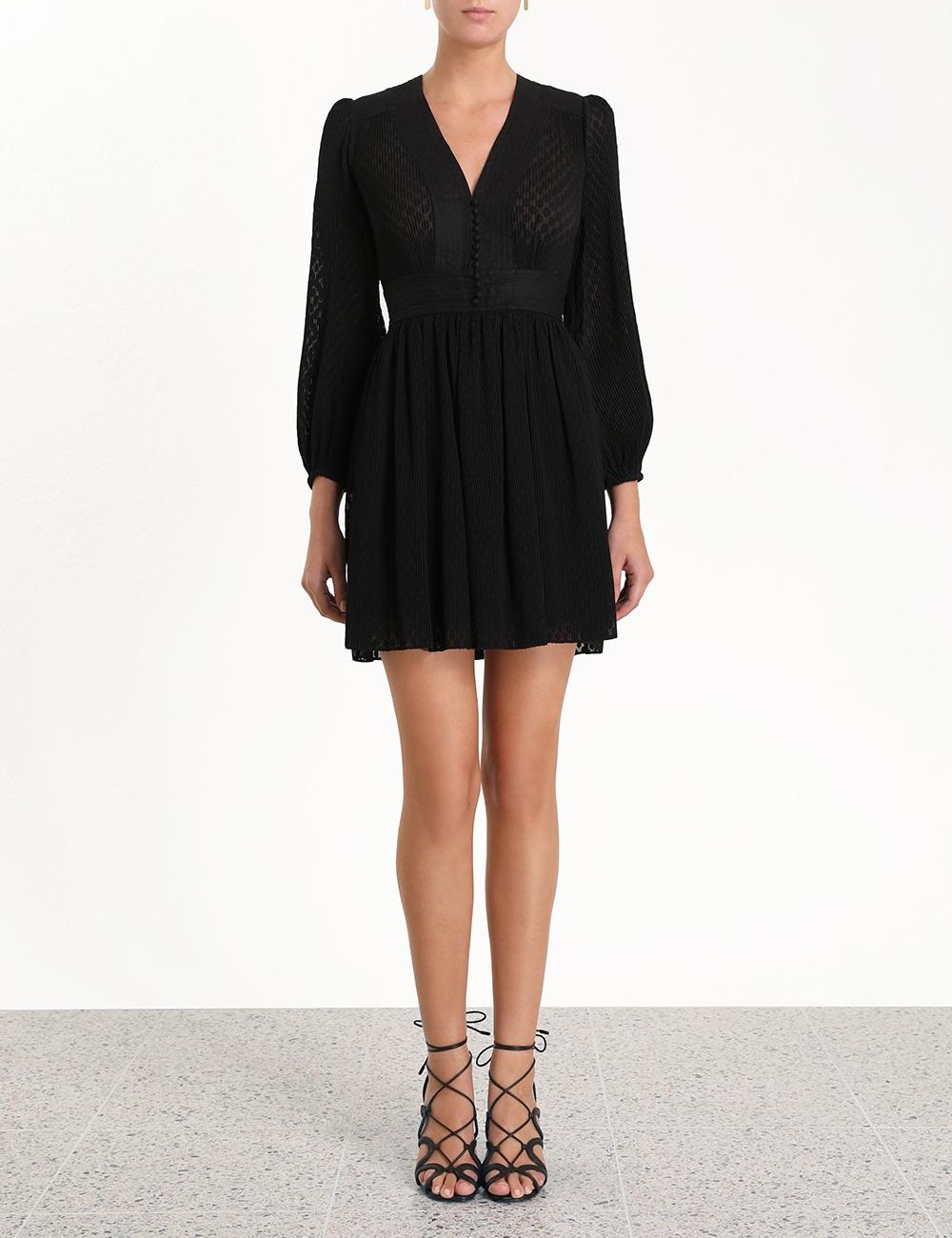 Plisse Short Dress