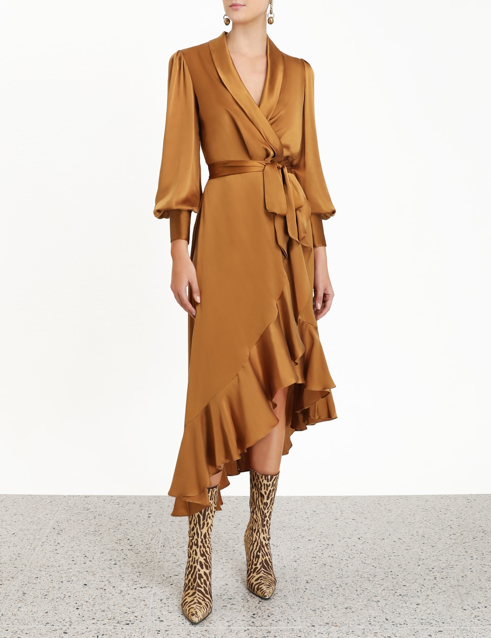 Espionage Silk Wrap Midi