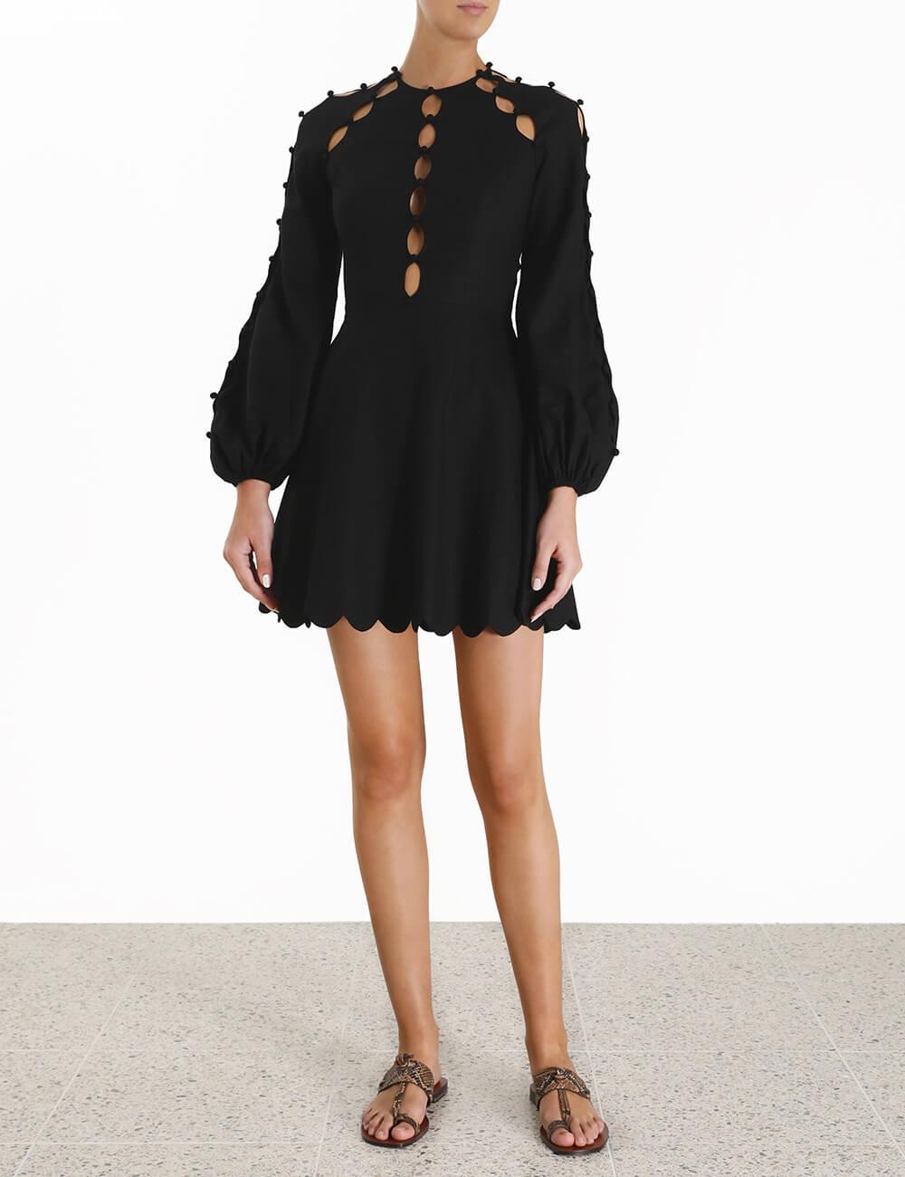 Goldie Scallop Short Dress